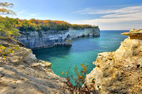 Autumn at Grand Portal Point Pictured Rocks National Lakseshore.