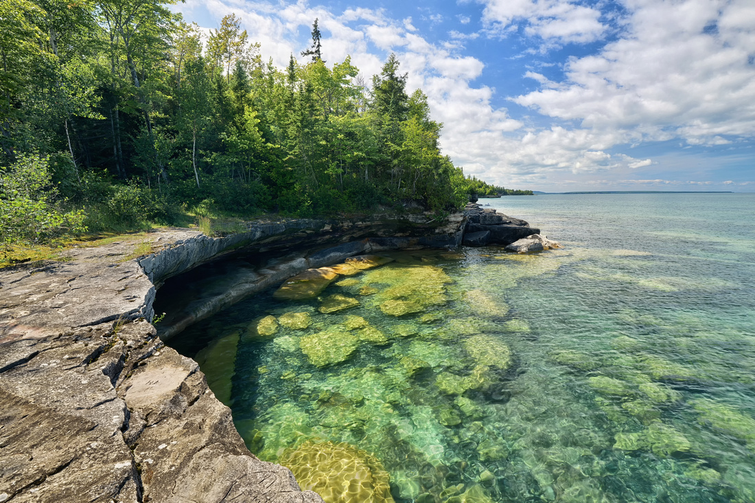 Crystal Clear waters of Lake Superior in Upper Michigan